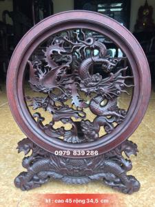 Giao Lưu : đĩa tứ linh trạm tỉ mỉ tinh tế làm theo lối cổkt cao 45 rộng 34,5 cm ☎️ 0979 839 286
