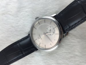 Omega Prestige DeVille Mechanic stainless steel Cal651 Silver dial