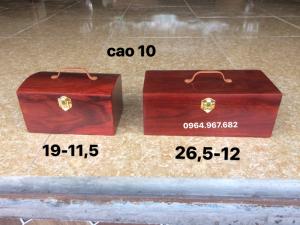 hộp đựng con Dấu và đồ trang sức đồ mini gỗ hương