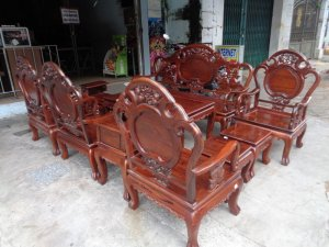 Bộ ghế Đào cẩm lai việt 10 món