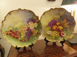 cặp đĩa hoa quả.