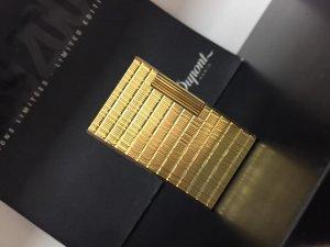 S.T.Dupont 1 Lỗ Form Cao Vàng Vân Bọc 20u