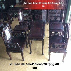 bộ trúc dưa gỗ gụ hàng 7 món - 0979 839 286