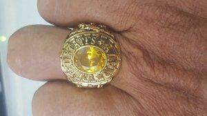 Nhẫn hợp kim mạ vàng hải quân mỹ