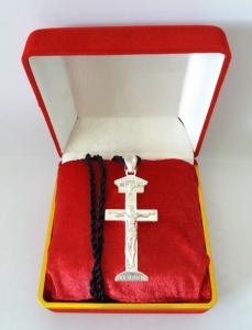 Tượng Thiên Chúa ba ngôi đúc từ bạc nguyên khối quý hiếm do hội xuân độ chế tác và gia công