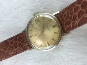 Omega Seamaster (Deville) Automatic gold filled 14k Cal560 dial's Yellow color