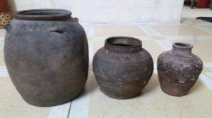 3 lọ gốm cổ đồ đào