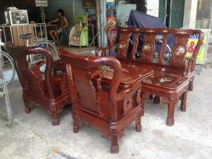 Bộ ghế gỗ 6 món Cẩm lai việt