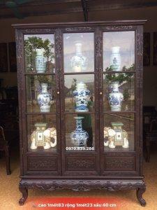sản phẩm - tủ bầy đồ - ngũ phúc kim tiền gỗ gụ - lh 0979 839 286