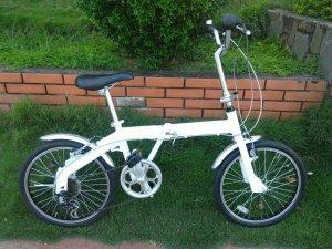 Xe đạp xếp trắng  - hàng bãi nhật