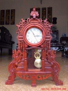 Sản Phẩm - Đồng hồ phong cách phương tây gỗ hương - LH 0979 839 286