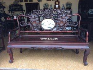 bộ ghế phương trúc nho làm theo lối cổ sang trọng , bền đẹp  gồm 2 văng dài một bàn