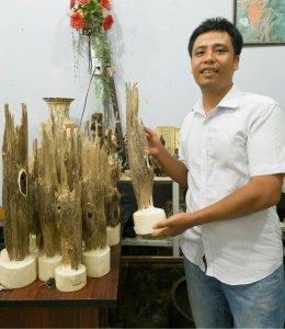 Trầm hương nhân tạo để trưng bày hày hoặc để lên bàn thờ rất thơm