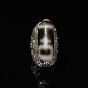 Nhẫn đá Lạt Ma Tây Tạng(dzi beads);