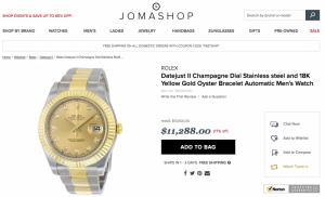 Rolex 116333 Datejust 2 Demi 18k Yellow Gold size 41mm