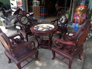Bộ bàn ghế guột nho 7 món gỗ trắc