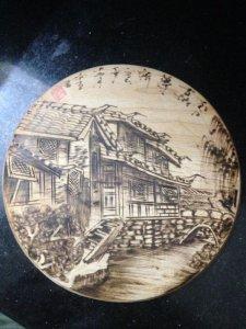Đĩa gỗ trang trí Phượng Hoàng Trấn Cổ