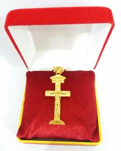 Tượng Thiên Chúa ba ngôi  cộng dây chuyền bằng vàng hội xuân độ dành cho nam giá km 23,9 triệu