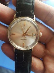 Đồng hồ cổ hamilton tự động bọc vàng 10k