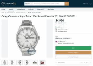 Omega Seamaster AquaTerra Anual Calendar 8601 inhouse movement 43mm