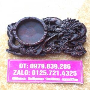 Sang trọng + tinh tế - gạt tàn thuốc rồng phun lửa gỗ gụ dài 22,5 rộng 12 cm ☎️ 0979 839 286