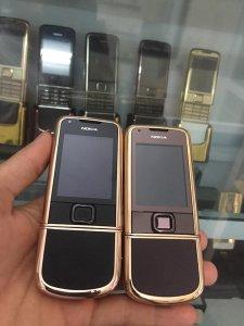 Nokia 8800 vàng hồng da nâu và da đen nguyên zin