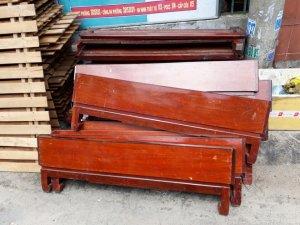 30 giường gỗ gõ đỏ 1m2 x 2m