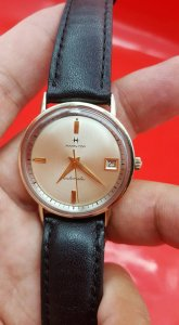 Đồng hồ Hamilton vỏ bọc vàng toàn thân xưa chính hãng