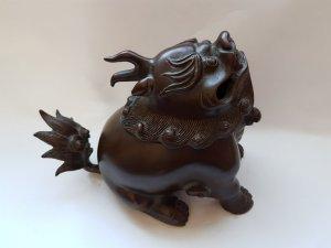 """Tuyệt phẩm từ đại nghệ nhân Trần Giảo Sinh:""""xông trầm kỳ lân"""".Giá web chuẩn từ 30 triệu -50 triệu vn"""