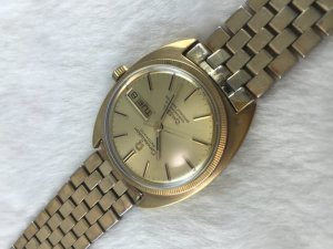 Omega Constellation 4300 Chronometer Day-Date Automatic demi 14k & Bracelet 14kGF Cal751