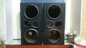 Đôi vỏ thùng loa toàn dải SONY, lắp Bass 16 cm.