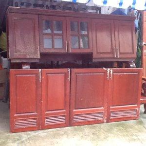 tủ bếp gỗ căm xe dài 1m8