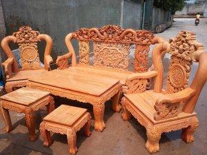 salong phòng khách gỗ quý giá rẻ xem hàng tại xưởng