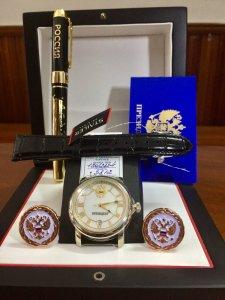 Trình làng mã số 32A: đồng hồ bạc khối 925 President NEW 2017- 2018 gương mặt thương hiệu russia