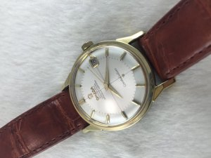 "Omega Constellation Pie Pan Chronometer Automatic ""dog leg"" demi 14k Cal561 Cross dial"