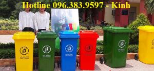 thanh lý thùng rác nhựa hdpe 120 lít giá rẻ ở hcm, thùng rác 120l có hai bánh xe