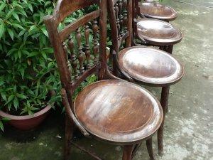 4 ghế rẻ quạt xưa