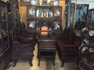 Bộ bàn ghế Ngũ Lân Vờn Cầu