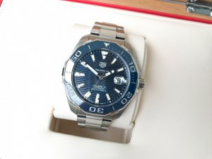 TagHeuer Aquaracer Ceramic Bezel Automatic Blue Dial Men's Watch 43mm