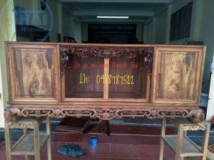 Tủ chè gỗ gụ Quảng Bình