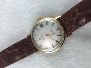 Omega Seamater Deville Automatic solid 14k gold Cal563 White dial