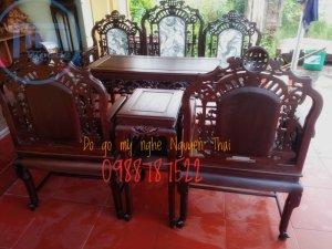 Bộ ghế cổng thành gỗ gụ 5 món