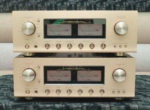 Amply. LUXMAN L 509S. Tất cả còn rất đẹp, nguyên bản. Remote dây nguồn zin theo máy.