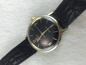 Omega Seamaster Automatic demi 14k gold Cal550 dial's Shiny Black