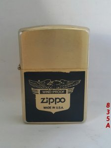 z.835A-gold plate ( mạ vàng) 1988 -Logo ZIPPO