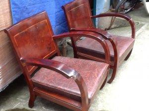2 ghế chân chó xưa lưng nu. và ghế đôn xưa