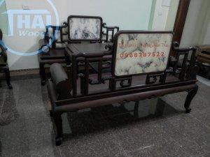 Bộ ghế phương cuốn móc gỗ gụ