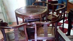 bộ bán nguyệt gỗ cẩm lai