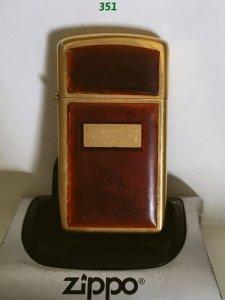 Z.351-gold plate slim 1980 Mạ vàng ốp nhựa màu hổ phách