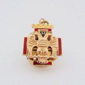 Mặt dây chuyền masonic vàng hồng